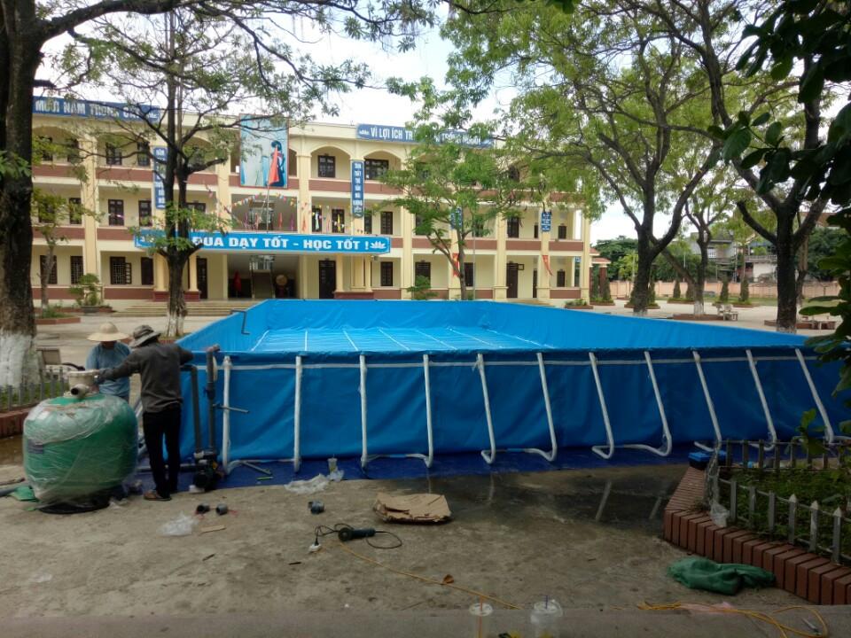 Lắp bể bơi tại trường tiểu học ở Mỹ Đức Hà Nội