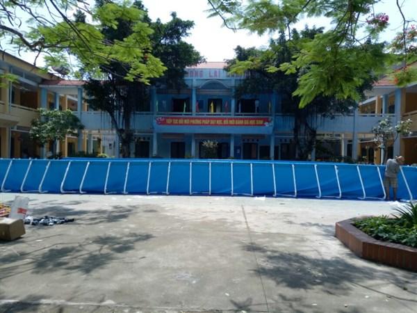Lắp đặt bể bơi thông minh tại Tiên Du Bắc Ninh, khung bể được bảo hành 7 năm