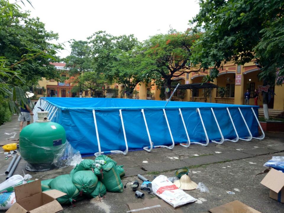 Lắp đặt bể bơi tại Trường tiểu học Hợp Lĩnh Thành phố Bắc Ninh