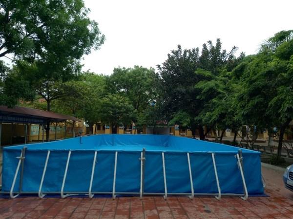 Lắp đặt bể bơi tại trường tiểu học Cảnh Hưng, Tiên Du, Bắc Ninh