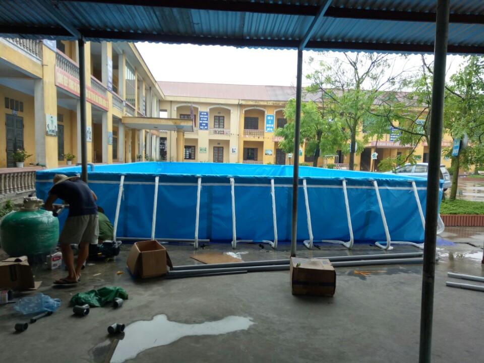 Lắp đặt bể bơi thông minh tại trường tiểu học Phong Khê Thành Phố Bắc Ninh