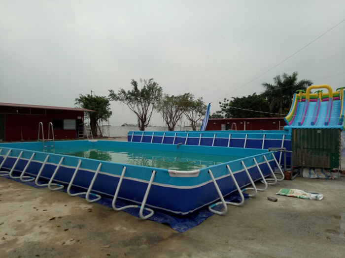 Lắp ghép bể bơi thông minh