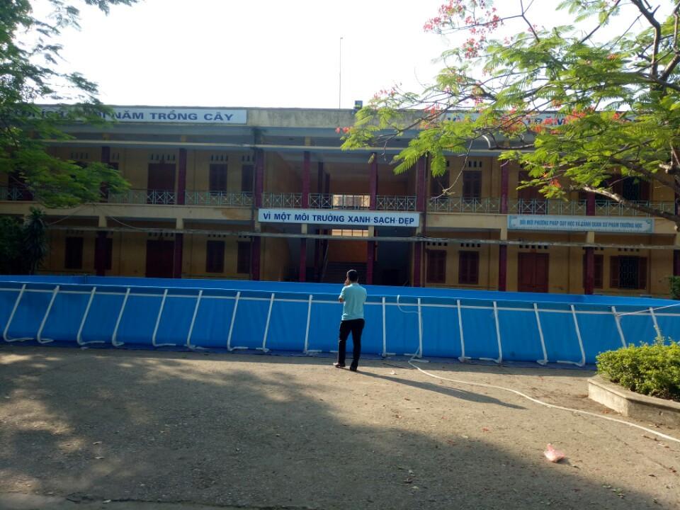 Lắp bể bơi thông minh tại trường tiểu học Đồng Nguyên, Từ Sơn, Bắc Ninh