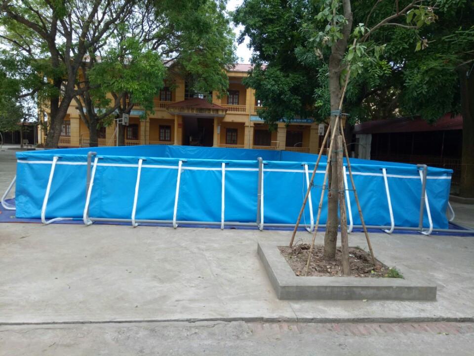 Lắp bể bơi tại trường tiểu học Tân Hồng, Từ Sơn, Bắc Ninh