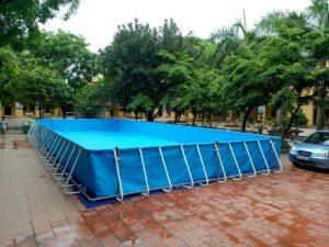 lắp đặt bể bơi tại trường tiểu học Cảnh Hưng Bắc Ninh